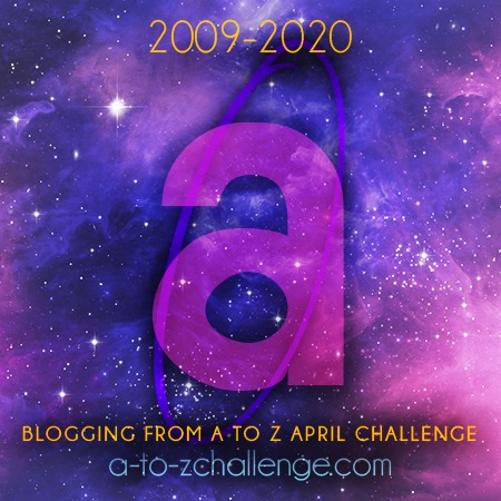 A to Z blog challenge. The letter A badge.